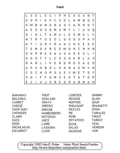 word for cuisine 39 s word search puzzles food