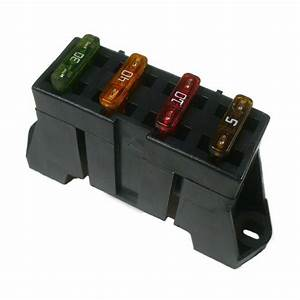Ato Atc 4 Way Fuse Block Panel Holder With Terminals 12v