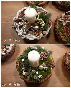 Adventsgestecke Selber Machen : weihnachtsgesteck basteln adventsgesteck basteln weihnachtliches gesteck selber machen ~ Frokenaadalensverden.com Haus und Dekorationen