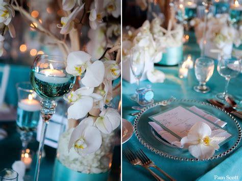 tiffany blue table decorations tiffany aqua beach wedding at the hotel del coronado