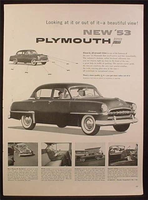 magazine ad   plymouth cranbrook car  door sedan