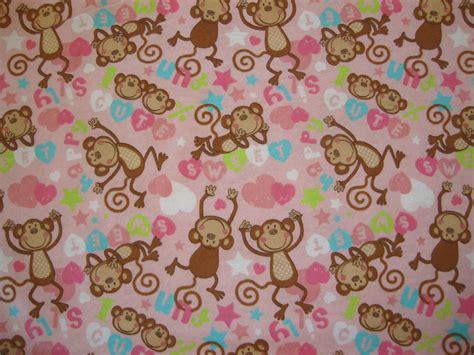Cute And Silly Monkey Pink Fabric 1 Yard Or By Flyingdollar