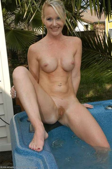 Relaxing By The Hot Tub Milf Luscious