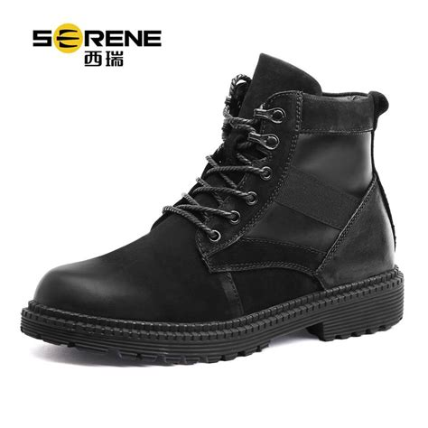 Men Winter Leather Lace Casual Shoes Fashion