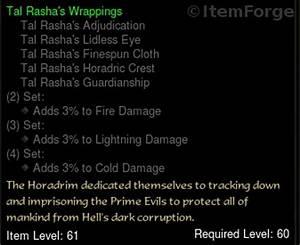 Diablo 3 EU [Old Legacy] Tal Rasha's Wrappings FULL SET ...