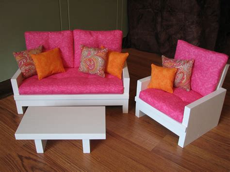 american sized 18 doll living room furniture set