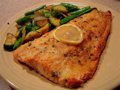 baked salmon recipes easy lemon parmesan baked salmon recipe food com