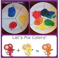 mouse paint fold in half to mix colors kindergartenklub creativity