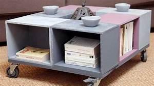 Table Basse Caisse Bois : meuble en caisse bois 4 ~ Nature-et-papiers.com Idées de Décoration