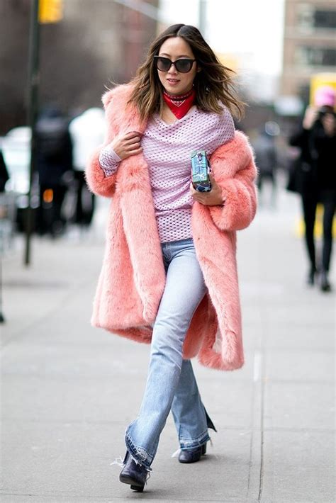 How to Wear a Fur Coat Best Street Style Looks from New York Fashion Week Fall/Winter 2016-2017 ...