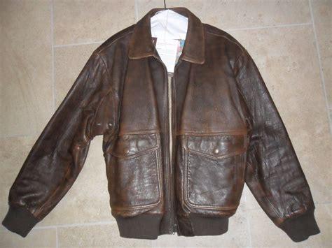 Nak Leather Flight Bomber Jacket Mens Size 40 Brown