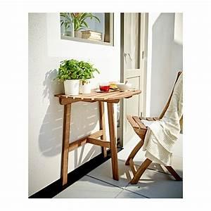 Ikea Table Balcon : 5 tables id ales pour les petits balcons d conome ~ Teatrodelosmanantiales.com Idées de Décoration