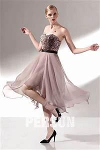 Robe Bal De Promo Courte : robe de bal courte en tencel bustier coeur jupe irr guli re ~ Nature-et-papiers.com Idées de Décoration