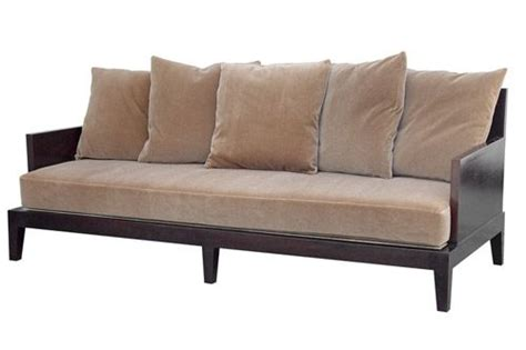 Wood Frame Loveseat by Wood Frame Sofa With Seat Cushion Imagine It