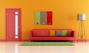 5 couleurs pour mettre de l39ambiance dans votre salon With panneau de couleur peinture murale 5 tableau abstrait abstract face