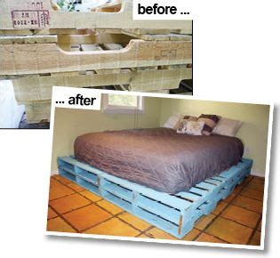instructions    queen sized pallet bed frame