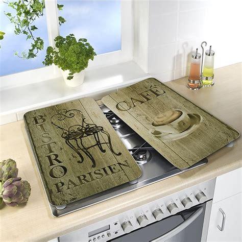 plaque protection cuisine 2 couvre plaques protection décoration bistrot wenko