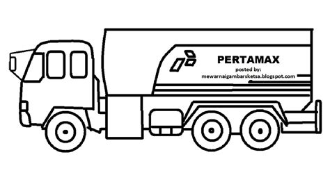 gambar mewarnai mobil truk