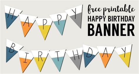 printable happy birthday banner paper trail design