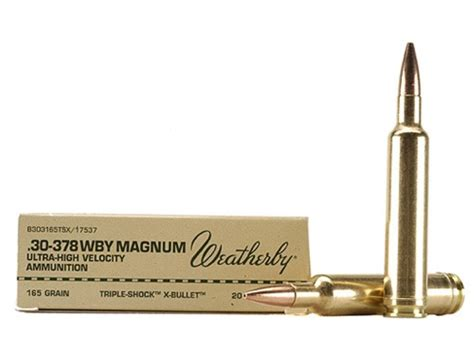 Weatherby Ammo 30-378 Weatherby Mag 165 Grain Barnes
