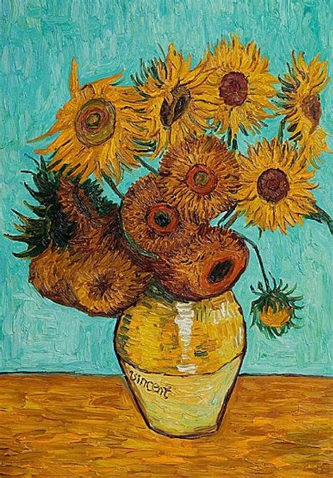 Sunflowers 12 In A Vase By Vincent Van Gogh Bosak Art