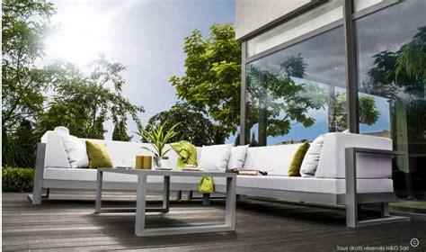 canapé de jardin aluminium stunning salon de jardin canape aluminium photos amazing