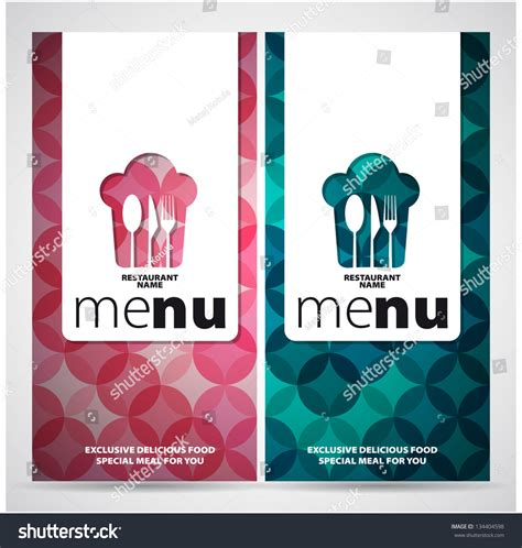 restaurant menu card design template  stock vector