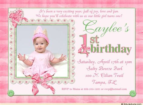 printable st birthday invitations girl bagvania