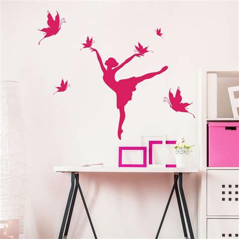 sticker silhouette danseuse  papillons stickers