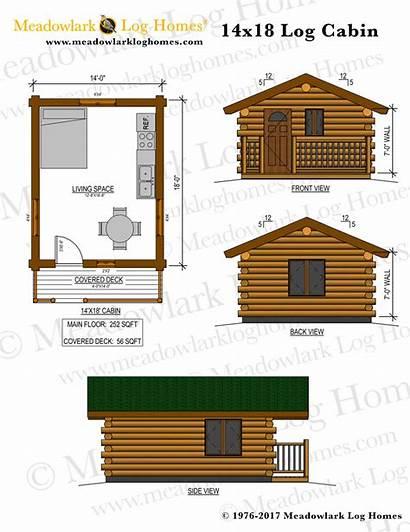 Cabin Log 14x18 Plans Plan Meadowlark Homes