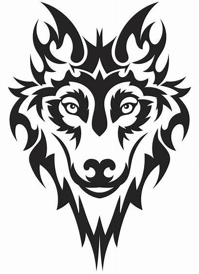 Wolf Tattoo Tattoos Stencil Vector Drawing Tribal
