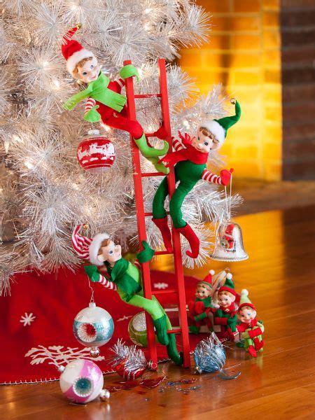 pixie elves set   christmas elf ornaments vermont