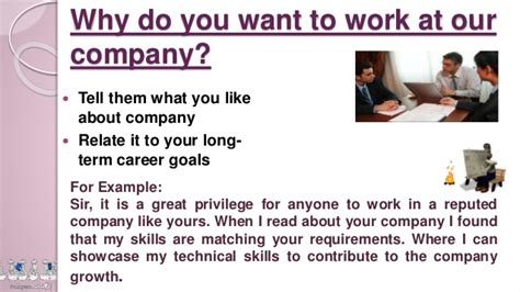 Why You Want Work For This Company by Questions And Answers