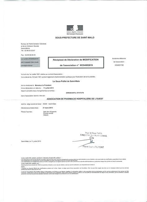 modification bureau association statuts apho