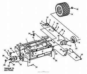 Bunton  Bobcat  Ryan 942218f 19hp Kai W  52 Side Discharge Parts Diagram For Brakes  Rear Wheel