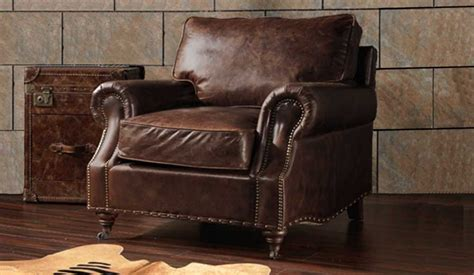 Burlington Antique Leather Armchair- Luxury