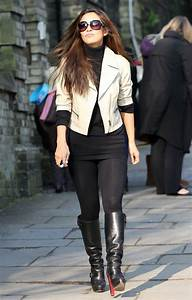 Myleene Klass out in Leggings and Boots in London on March ...