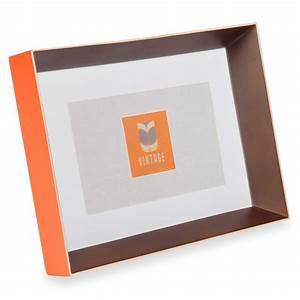 Cadre Photo 13x18 : cadre photo orange 13x18 cm seventies maisons du monde ~ Teatrodelosmanantiales.com Idées de Décoration