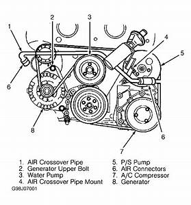 1997 Cadillac Catera Serpentine Belt Routing And Timing Belt Diagrams
