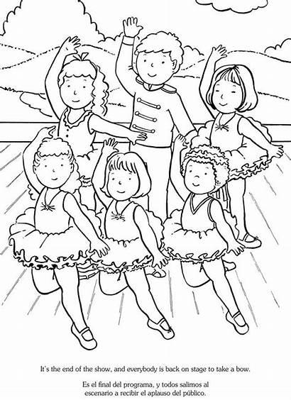 Coloring Pages Dance Ballet Bilingual Ballerina Recital