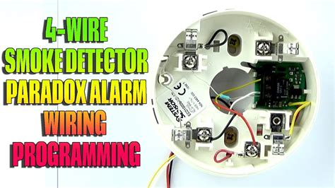 4 wire smoke detector wiring and programming paradox alarm youtube