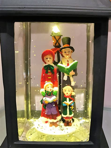 raz imports  caroler lighted water lantern