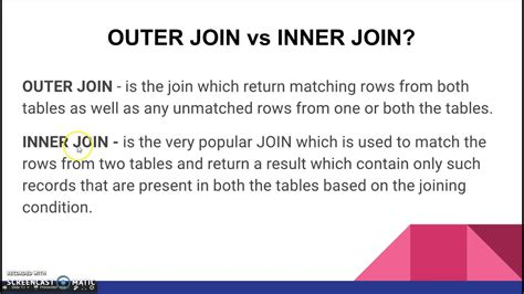 join in the outer join vs inner join youtube
