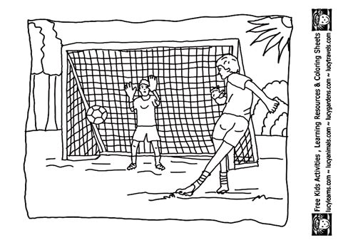 soccer practicing the pitch goal coloring page bebo pandco