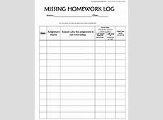 Missing Homework Log by Red Beetle RB Teachers Pay Teachers