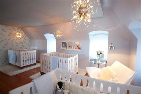 beautiful  calm modern triplets nursery design kidsomania
