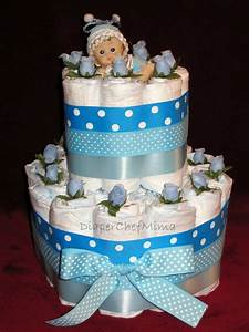 Baby Shower Cakes: Baby Shower Diaper Cake Centerpiece Ideas