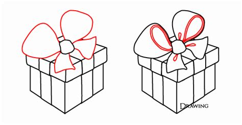 how to draw christmas gift boxes drawing and paint