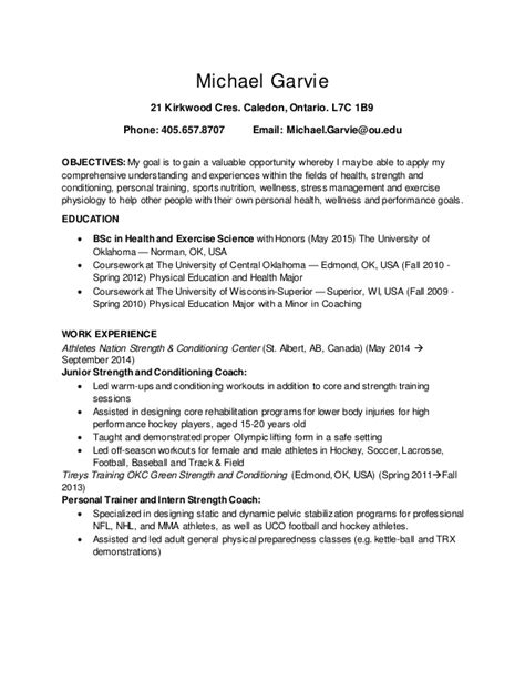 How To Include Shadowing On Resume by Garvie Resume Canadian Side And Shadowing Med And Cscs