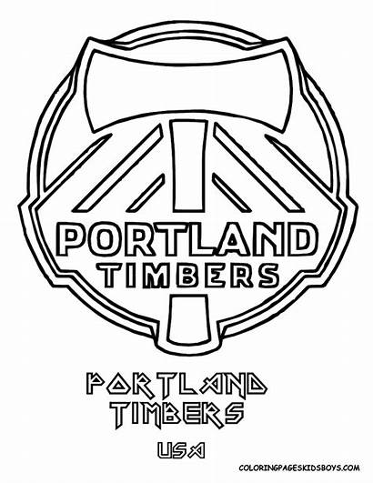 Coloring Pages Logos Soccer Boys Ball